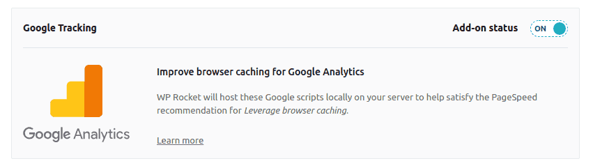 google analytics wp rocket