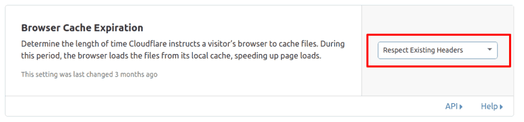 browser cache expiration cloudflare