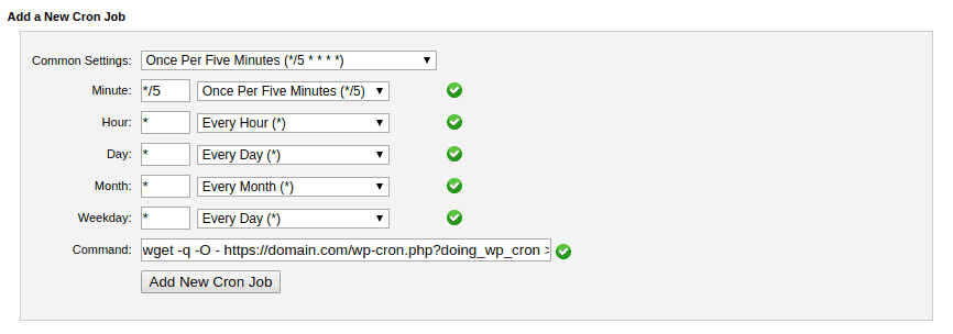 add cron job cpanel